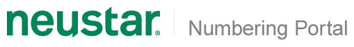 Neustar Numbering Portal