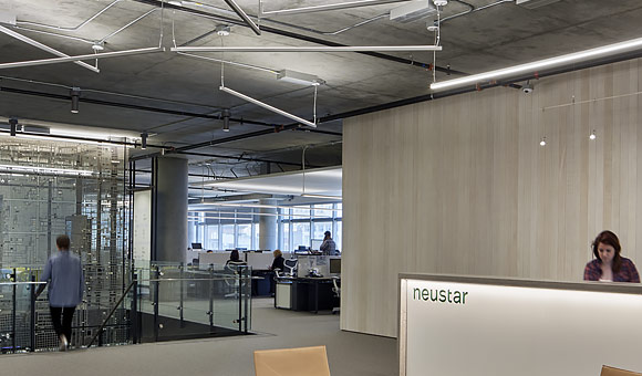 interior photo of Neustar office