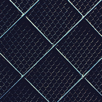 closeup of chain link fence photo