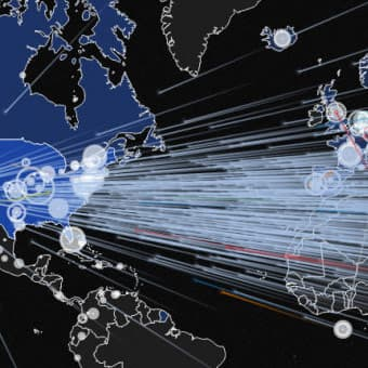 graphic showing targeted ddos attacks on us map