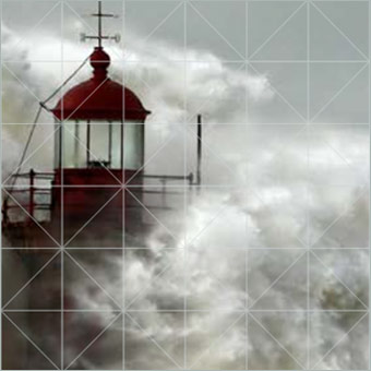 lighthouse hit by massive storm surge