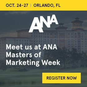 ANA Masters of Marketing Week banner