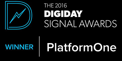 2016 Digiday Award for Neustar PlatformOne logo