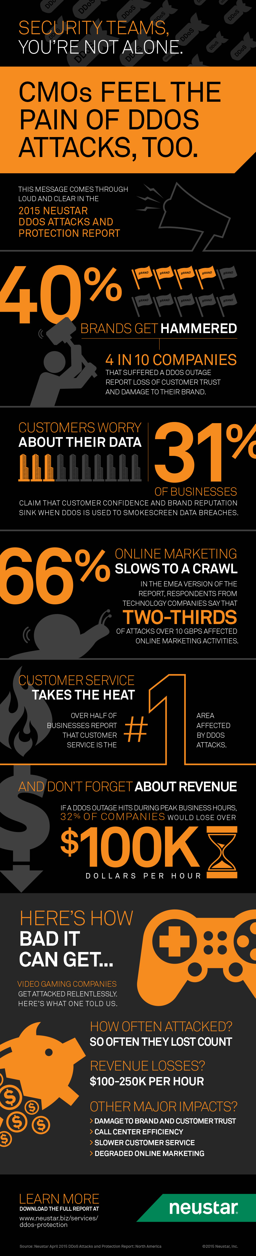 2015 Neustar DDoS Protection Report Infographic